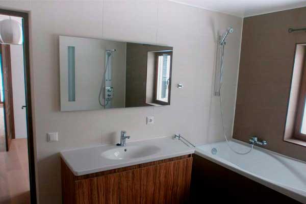 окончание ремонтных работ в ванной